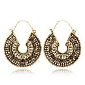 3/$20 New Vintage Style Geometric Gold Earrings